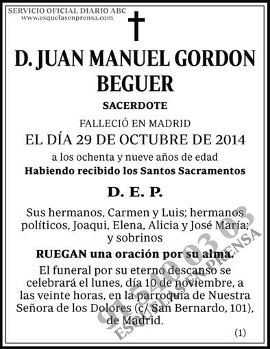 Juan Manuel Gordon Beguer